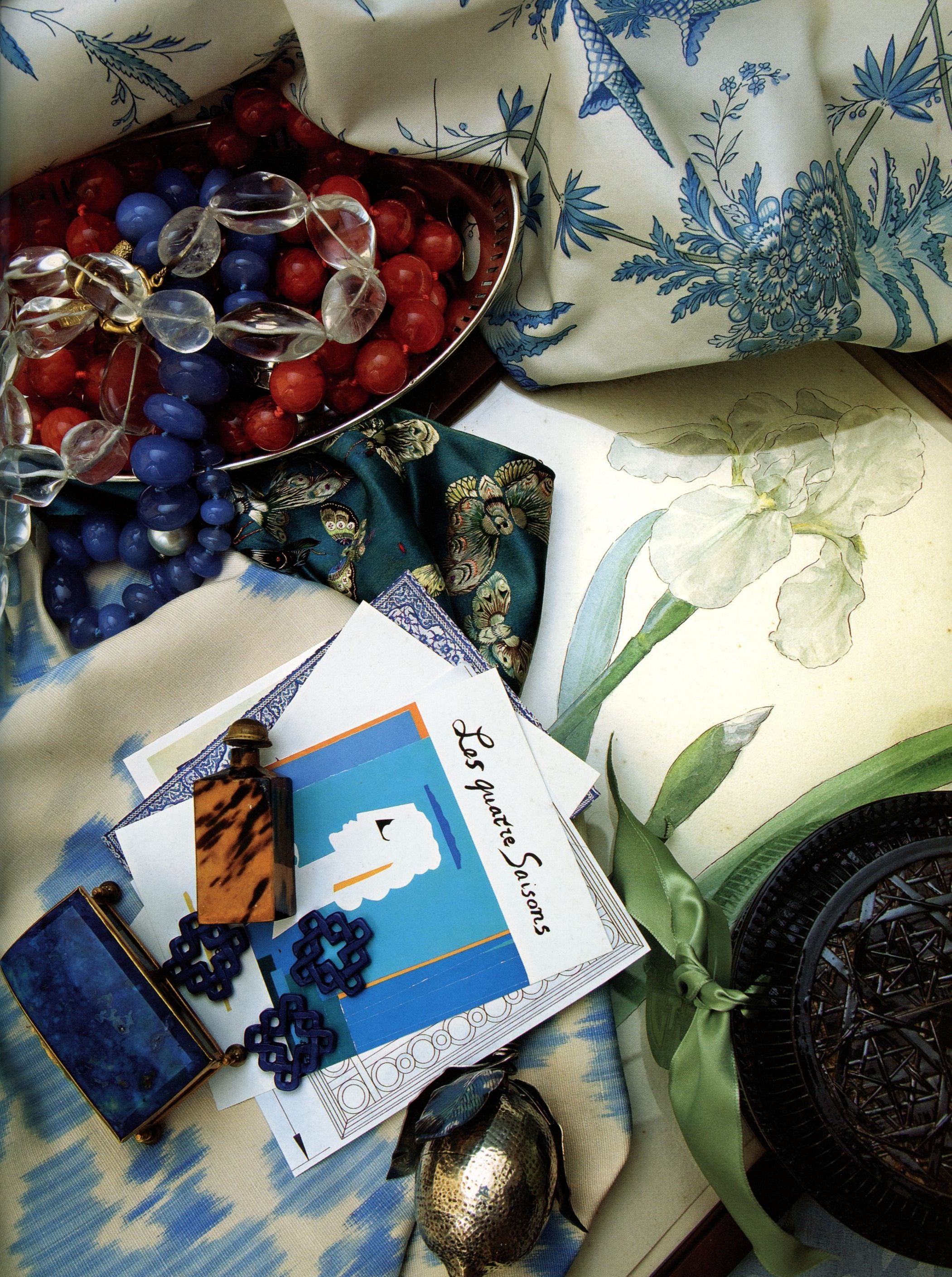 BEAUTIFUL BLUE AND GREEN-Charlotte Moss Decorates   Mark D. Sikes: Chic People, Glamorous Places, Stylish Things