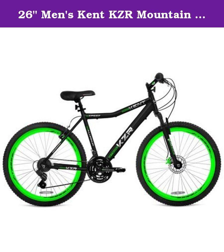 26 Men S Kent Kzr Mountain Bike Black Green High Profile