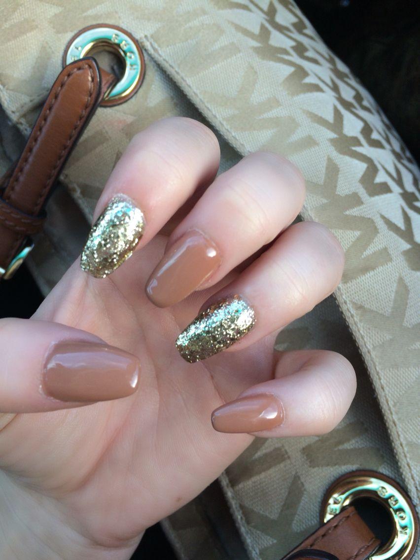 fall nails #nails #sparkle #fallnails #nailshape | nails | Pinterest ...