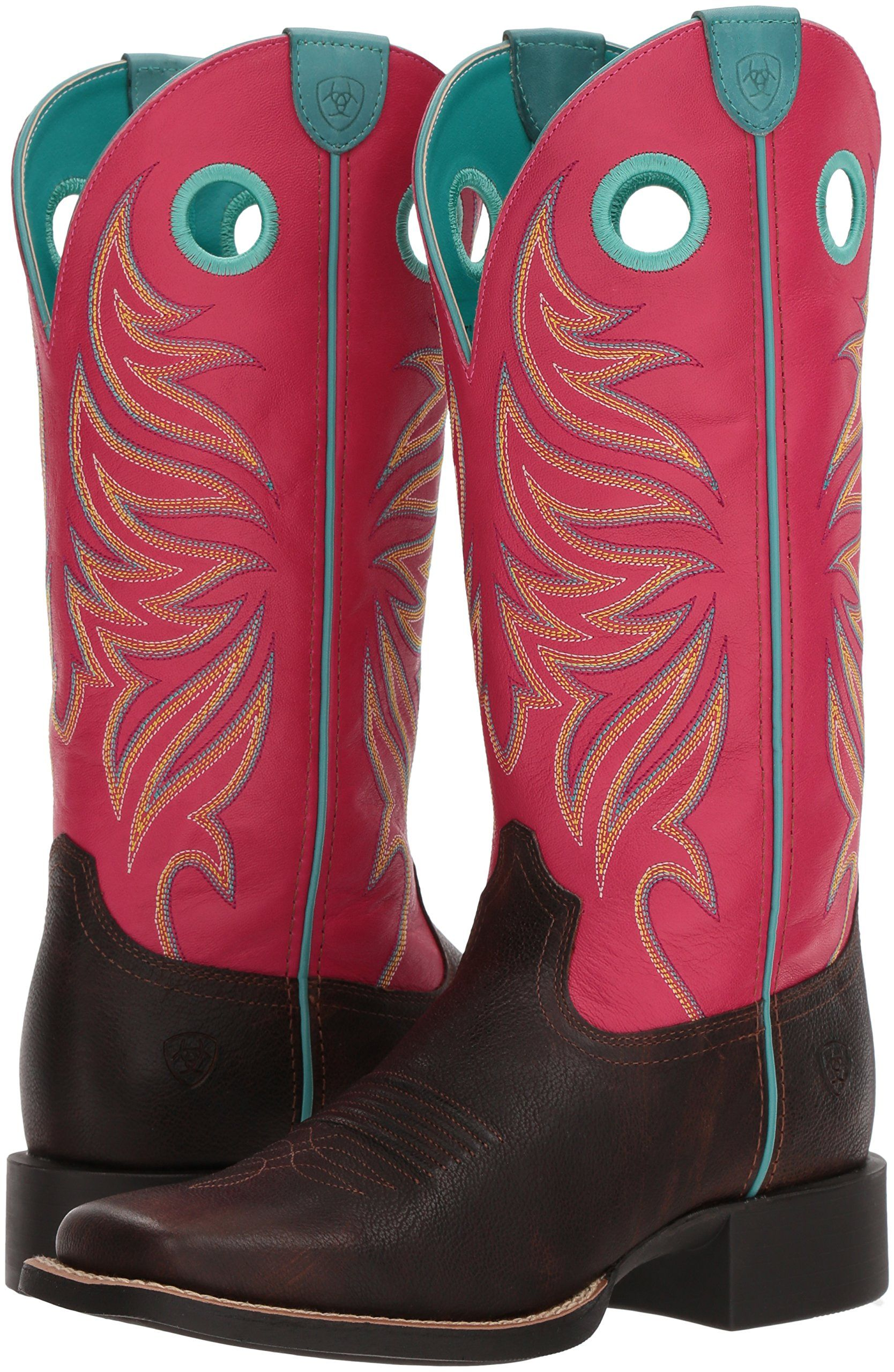 73aae187e05 Ariat Womens Round up Ryder Western Boot Yukon Chocolate Magenta 11 B US     For more information