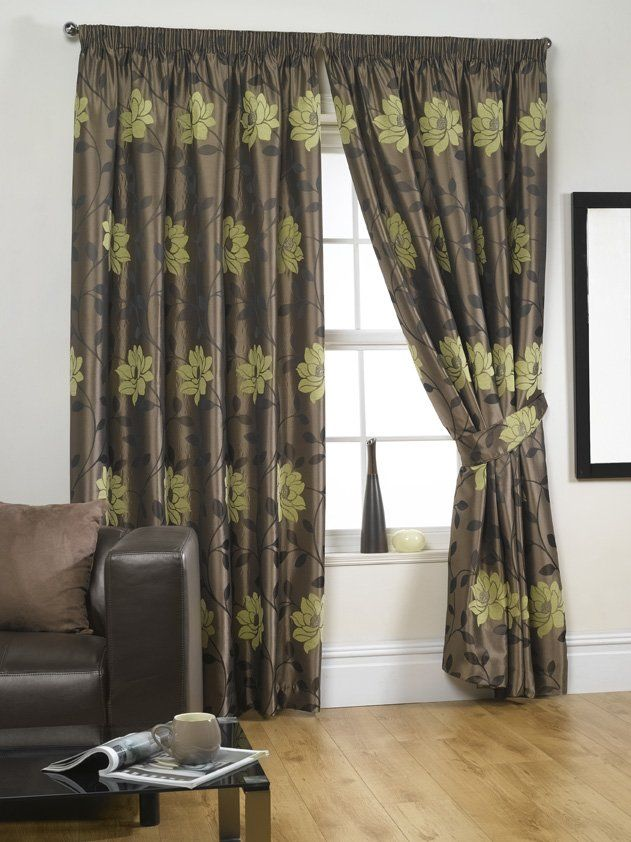 Carnaby Lime Readymade Lined Curtains Click To Enlarge