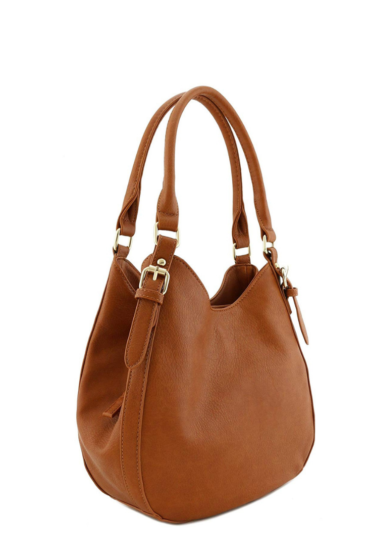 Hobo handbags for women   Light-weight 3 Compartment Faux Leather Medium Hobo  Bag ( 78f49a5f9385d
