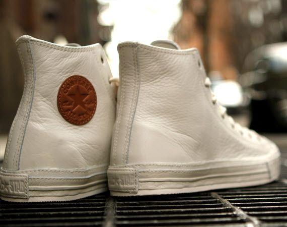 White leather chucks, sick!
