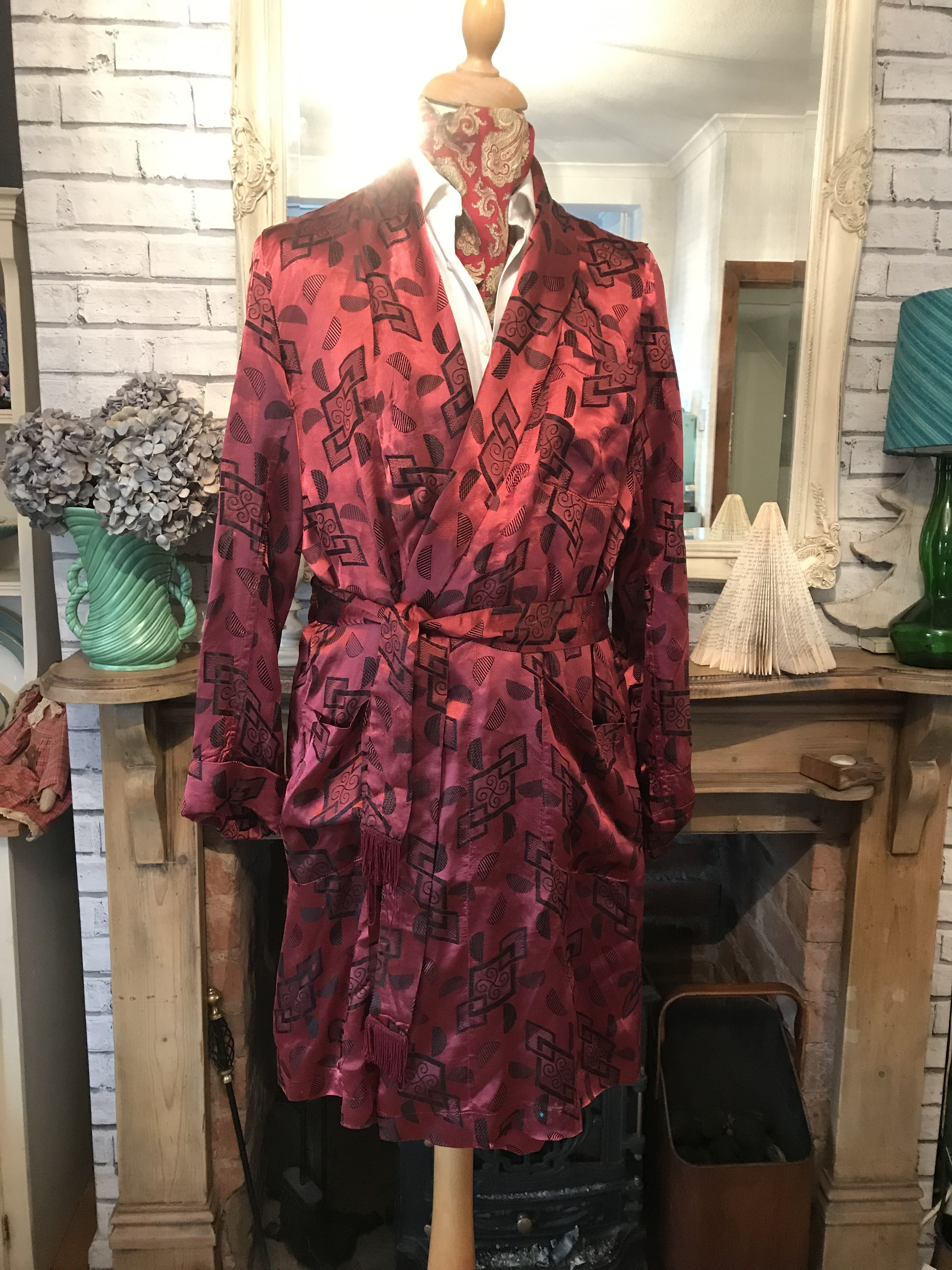 Pin On Smoking Jackets Gowns