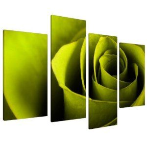 Green Wall Art large lime green rose floral canvas wall art pictures prints xl