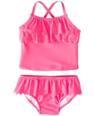 Carter's Baby Girls' 2-Piece Eyelet Tankini Swimsuit