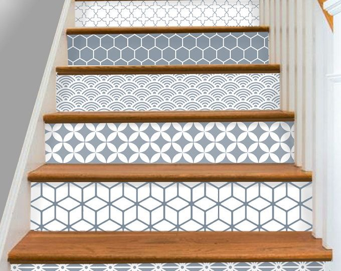 Stair Riser Vinyl Strips Removable Sticker Peel & Stick