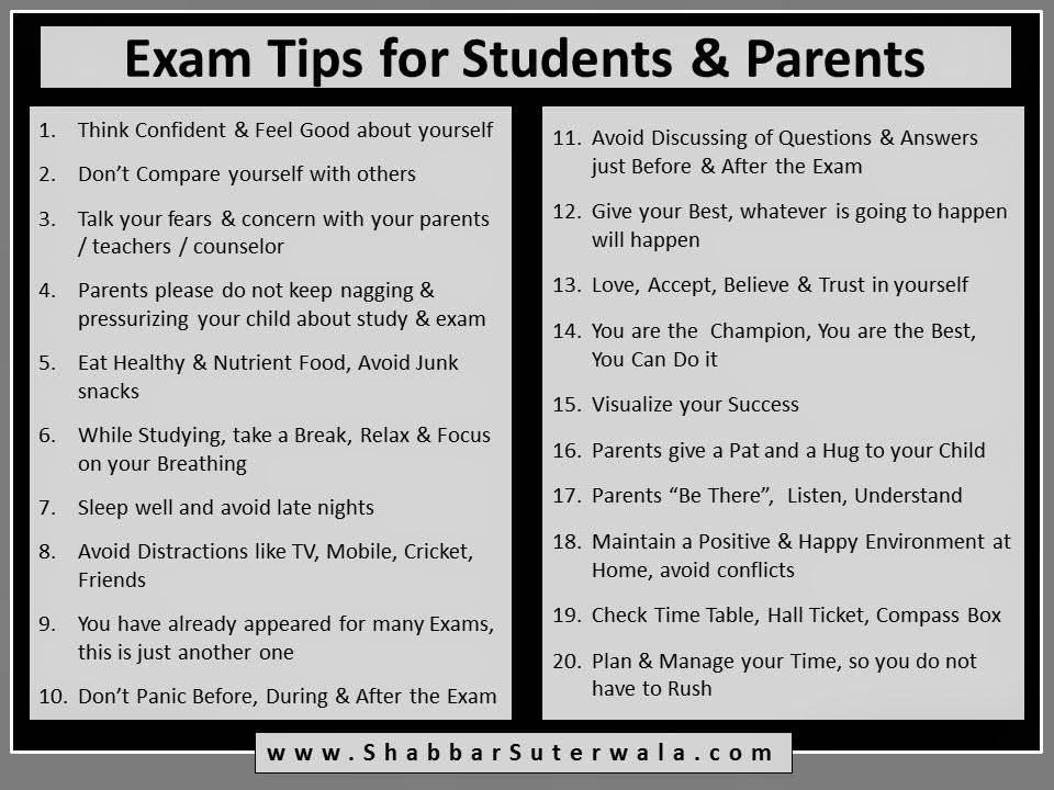 Poster Inspirational Motivational Exam Tips For Students And Parents Exam Motivation Quotes Exam Motivation Exams Tips