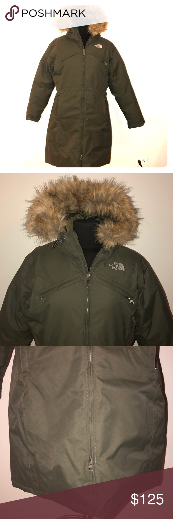 North Face Arctic Goose Down Parka Jacket Olive L Down Parka Parka Jacket Faux Fur Hoodie [ 1740 x 580 Pixel ]