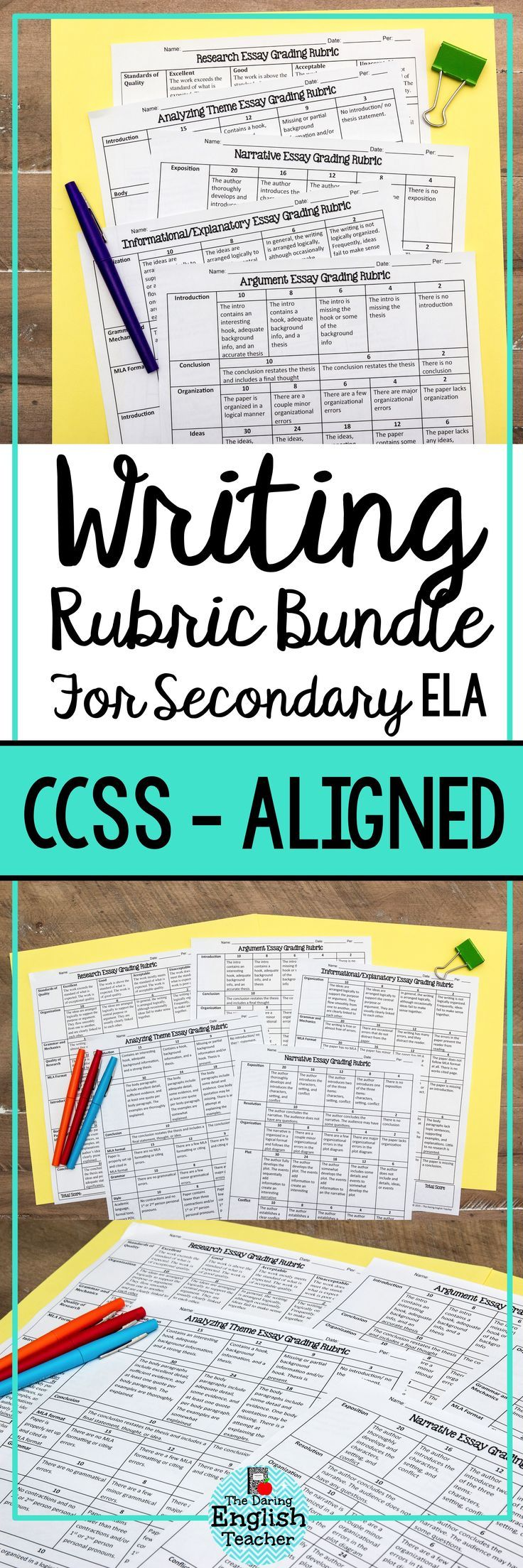 This essay rubric bundle includes a rubric for each of the major common  core writing strands: informational, argument, and narrative, ...