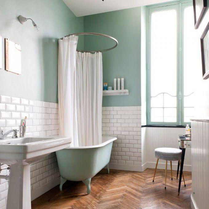 tendance le vert menthe raffraichit notre d co salle de bain et toilettes pinterest. Black Bedroom Furniture Sets. Home Design Ideas