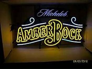 Vintage Michelob Amber Bock Neon Light Glimpse By Thefind With