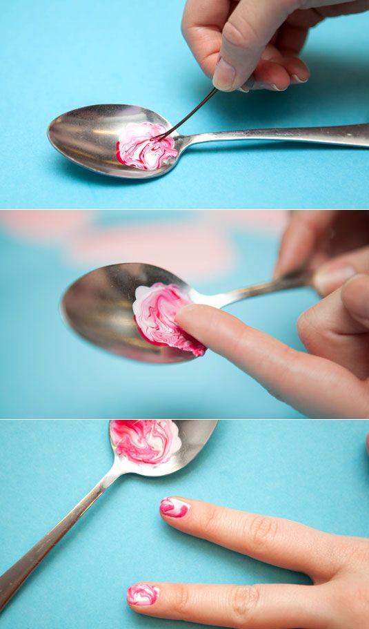 13 Beauty Tricks You Had No Idea You Could Do With A Spoon Nail Art Diy Easy Nail Art Hacks Nail Art Designs Diy