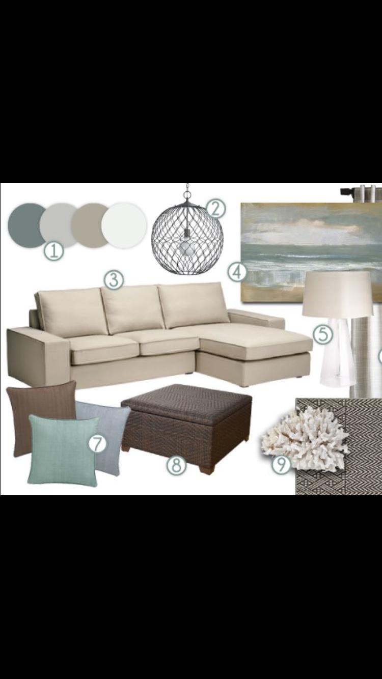 Pin by Sarah Stone on Decor | Pinterest | Coastal living rooms ...