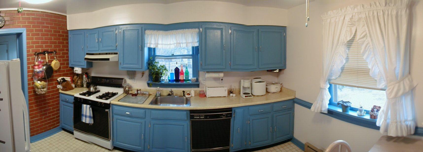 Marvelous Blue Kitchen Decor Inspirations : Gorgeous Blue Kitchen ...
