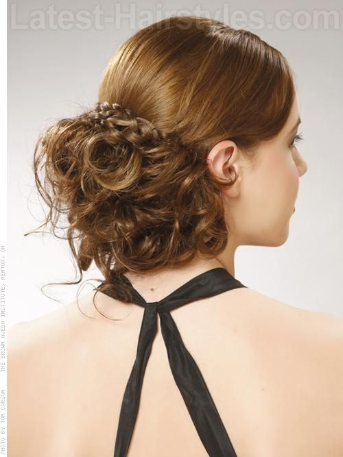 Cool Slick and Low Messy Chignon - Cute Prom Updos for prom hairstyles 2012