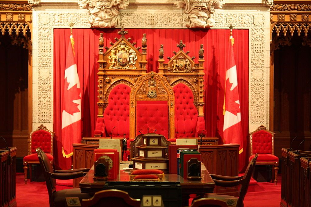 The Thrones For The Canadian Monarch Back Left Presently Queen Elizabeth Ii And His Or Her Royal Consort Back King On Throne Game Of Thrones Set Throne Room
