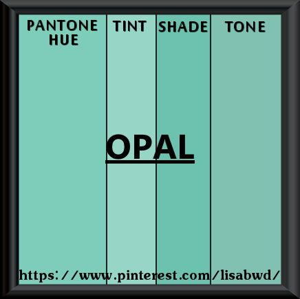Pantone Seasonal Color Swatch Opal Green Blue Emerald Swatches