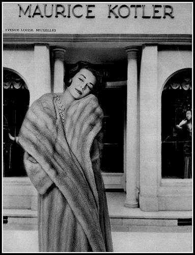 Dorian Leigh in Maurice Kotler Fur Coat, photo by Georges Saad, 1958