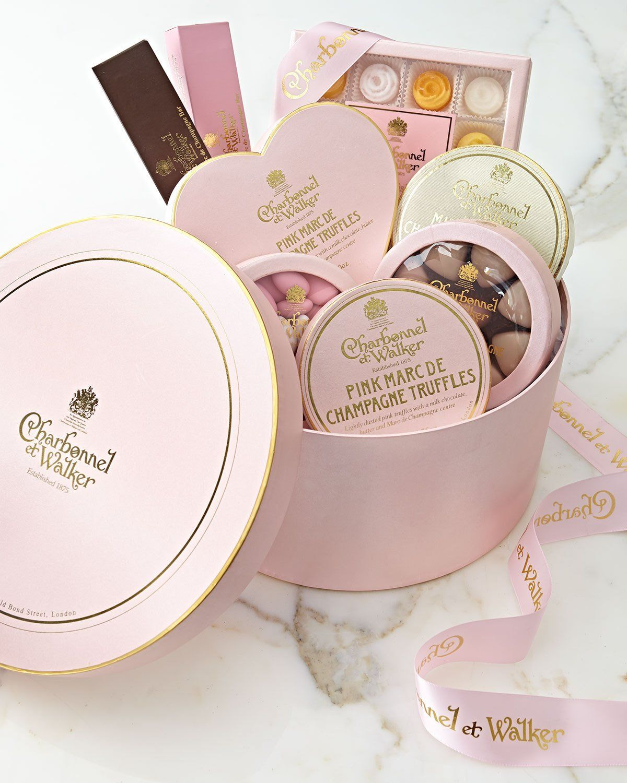 Charbonnel Candy gift basket | Champagne truffles. Charbonnel et walker. Gifts
