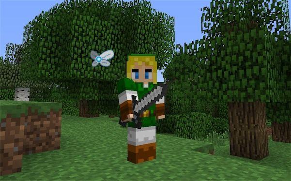 Legend Of Zelda Skin On Minecraft Minecraft Pinterest Legos - Skins para minecraft pe zelda
