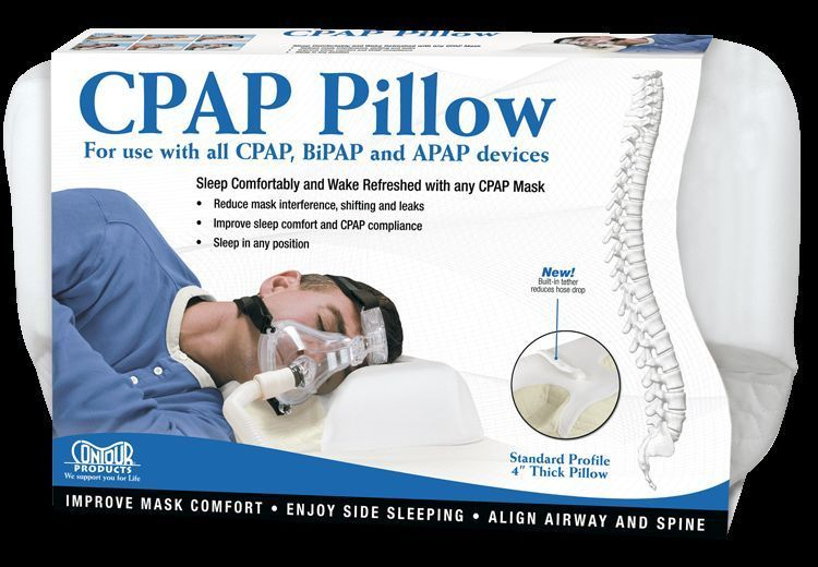 Details About Contour Cpap Mask Pillow 4 Inch Standard For Sleep Apnea 2 Yr Warranty With Images Sleep Apnea Sleep Apnea Remedies Cpap Mask