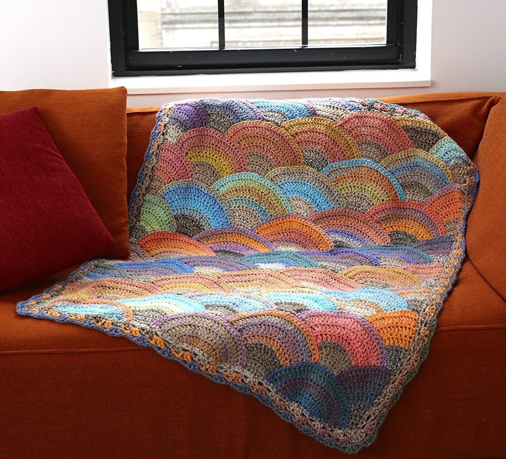 Seashell Crochet Afghan - Patterns - Lion Brand Yarn | afghans to ...