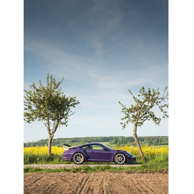 Porsche GT3 RS in ultra-violet. Photographed for @officialevomagazine #gt3rs…