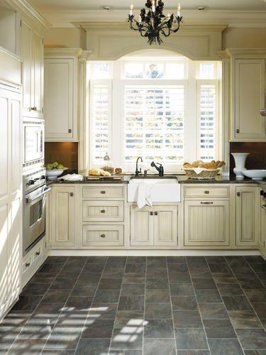 Slate Floor Kitchen Scrub Brush Like Fiberfloor By Tarkett I Dont Love The Dark Color But Might Be An Interesting Option