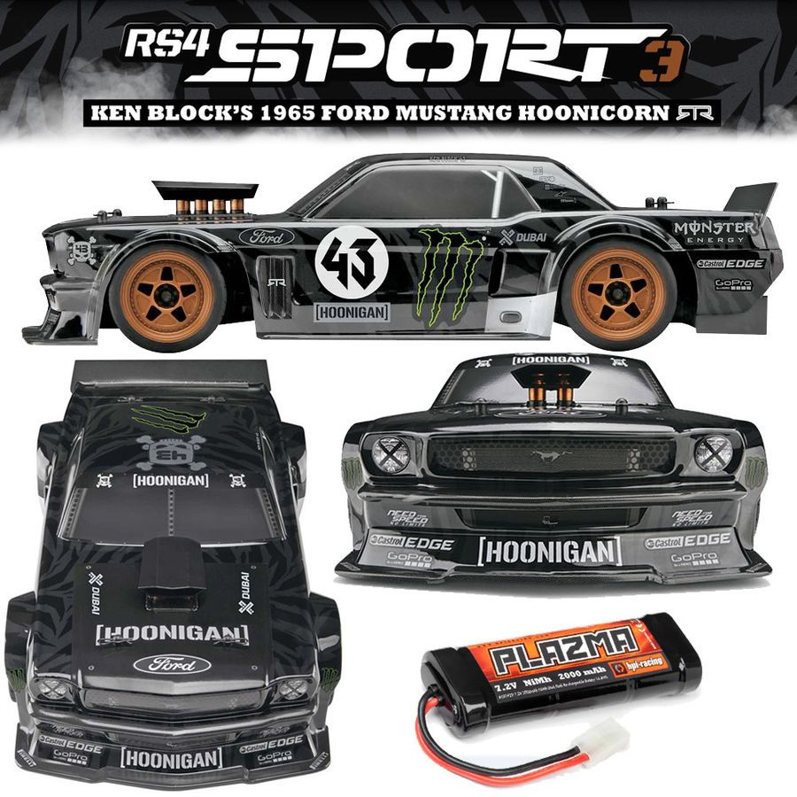 HPI 115990 1/10 RS4 SPORT3 K Block '65 Ford Mustang