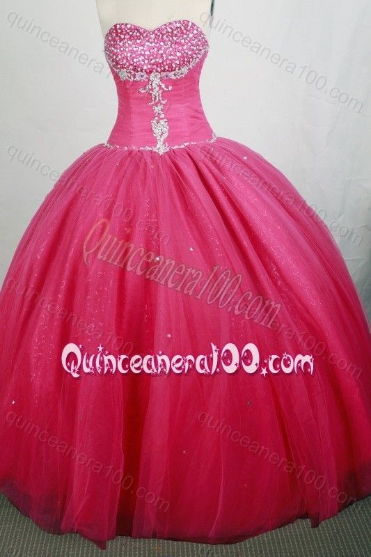 Beautiful Red Ball gown Sweetheart Beading Quinceanera Dresses ...
