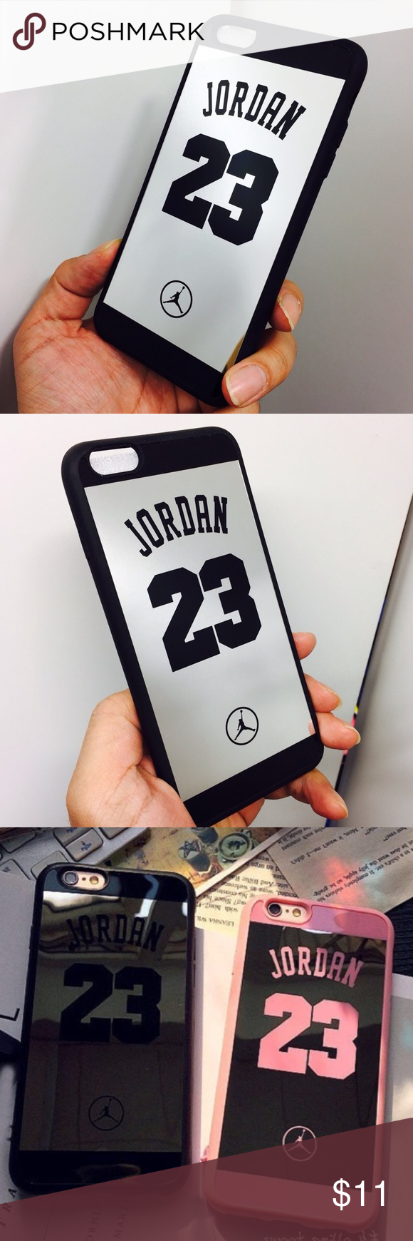 55d6ef719385 iPhone 6 6s Shock defense 23 Jordan mirror case Durable fashion shock  defense Customizes design