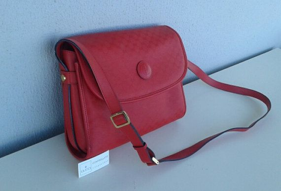 ec3575ded46 Gucci vintage red micro gg monogram shoulder bag cross body ...