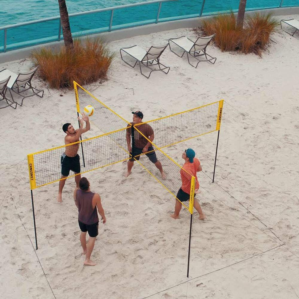 Four Square Volleyball Net and Game Set with