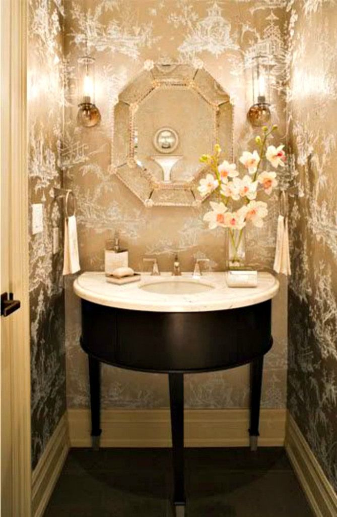 Bold & Beautiful Powder Rooms - Connecticut in Style
