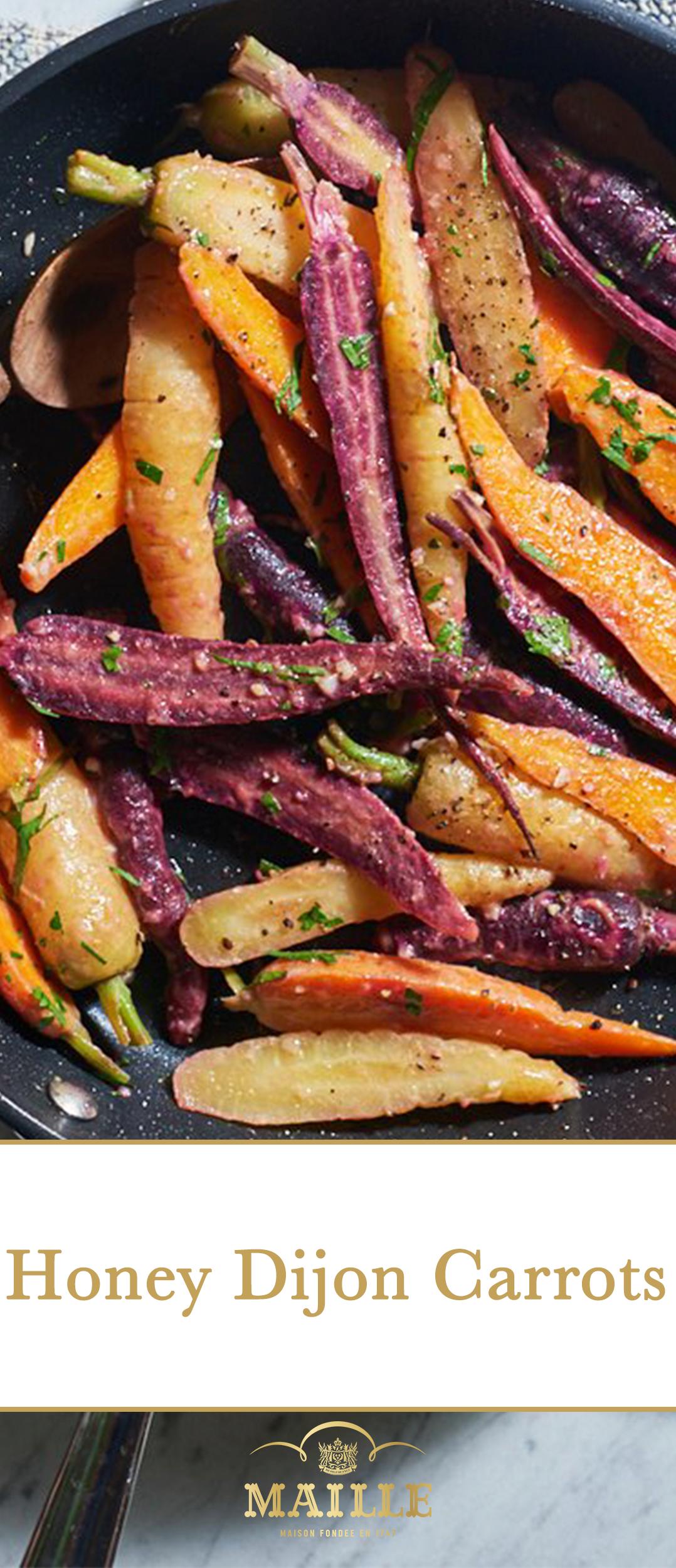 Honey Dijon Carrots Maille Winter Recipes Carrots