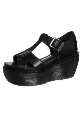 Dr. Martens ADAYA - Korkeakorkoiset sandaalit - black