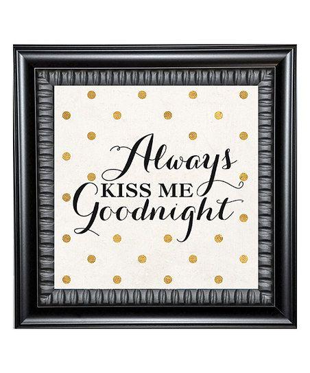 Karens Art Frame Framed Kiss Me Goodnight Wall Zulily