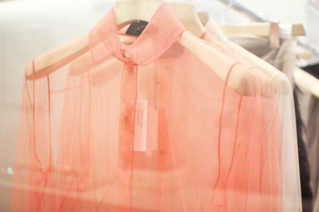 sheer blouse shirt