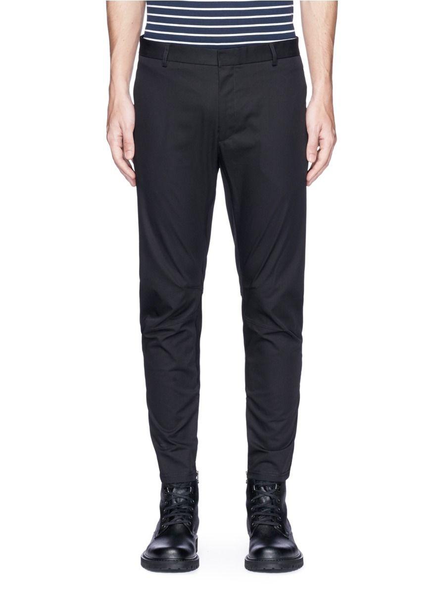 Coton Sergé Hommes Pantalons De Motards Lanvin R5MD3iJ