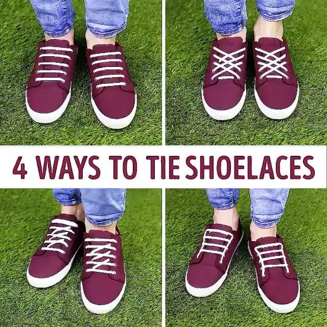 4 ways to tie shoe laces Credits