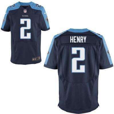 huge selection of 7af5c 656d3 Tennessee Titans #2 Derrick Henry Navy Blue Elite 2016 Draft ...