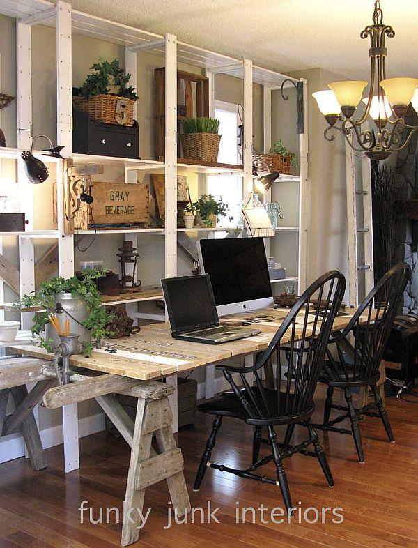 great diy pallet farm table desk   pallets, pallet desk and desks
