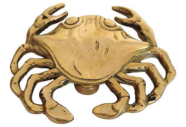 Brass Crab Door Knocker on OneKingsLane.com