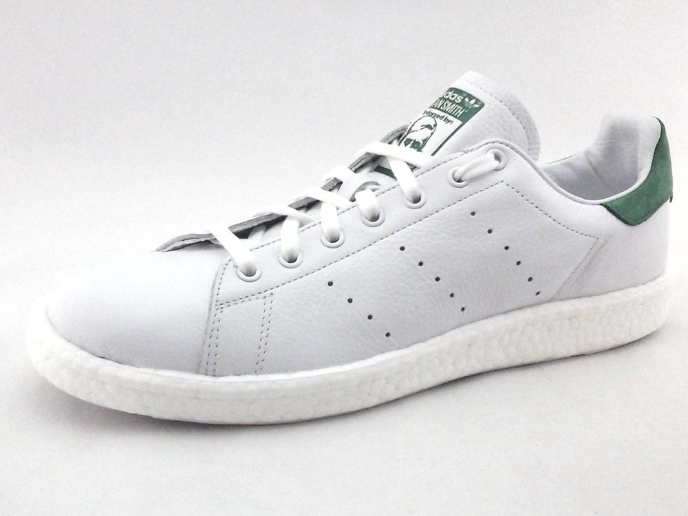 d4c8bdb73f47 eBay  Sponsored ADIDAS Stan Smith Boost White Green Leather Sneakers Shoes  BZ0528 US 13