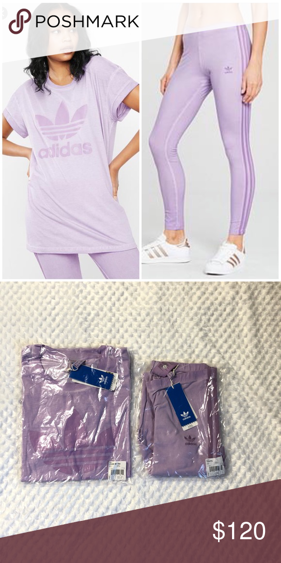 01243c6e1ab Adidas Originals Purglo Loose BF Tee and Legging Both are new with tags  Tshirt size XS but fits S Legging size S adidas Other