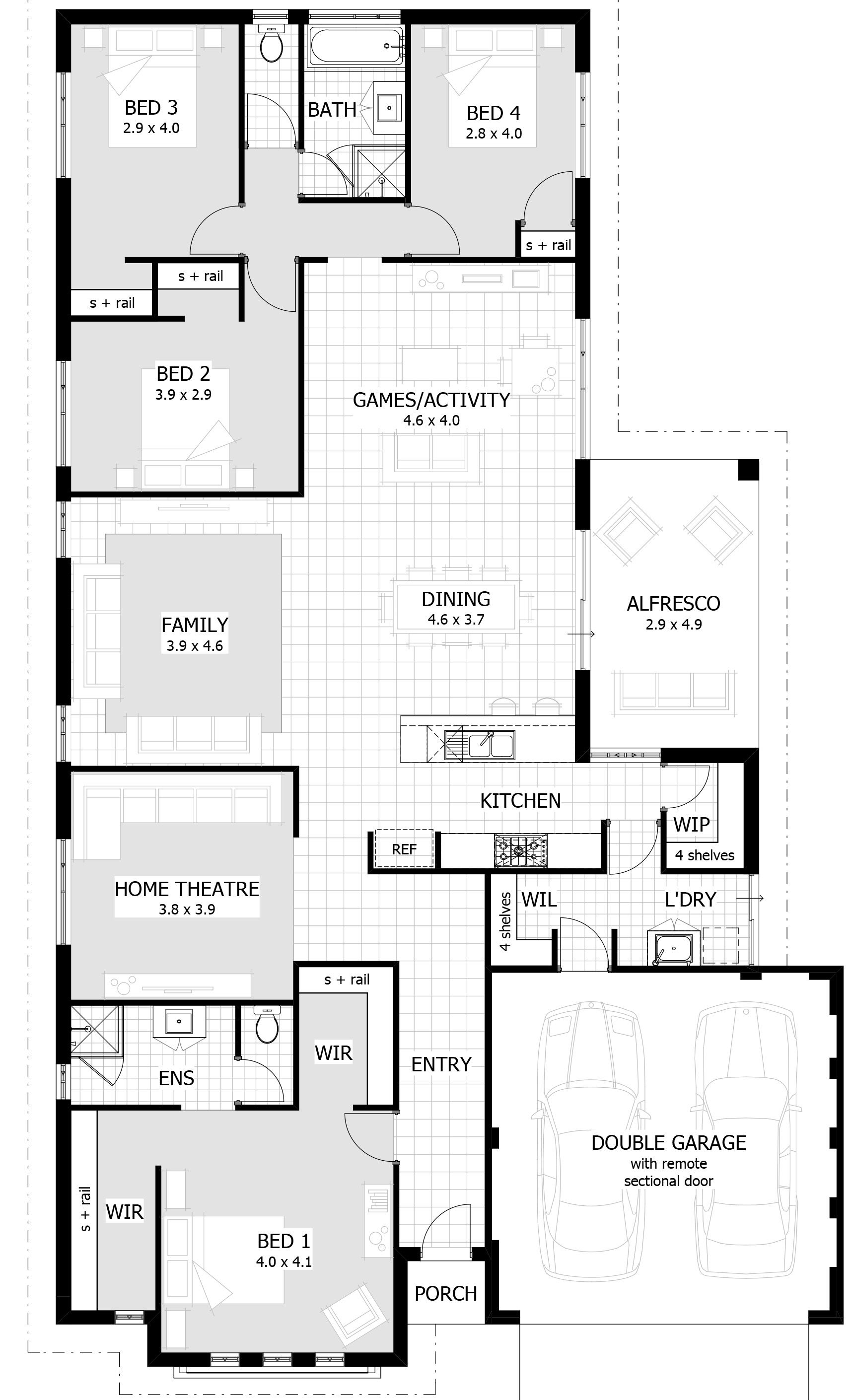 Home Designs With Activity Room Celebration Homes Bedroom House Plans 6 Bedroom House Plans