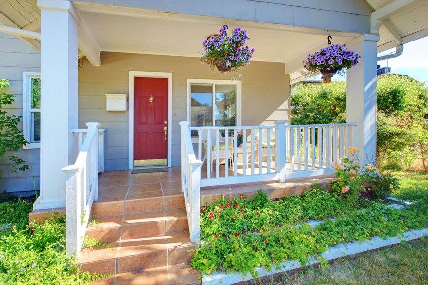 Rote Häuser Bilder zeitgenössische rote haustür für haus mit großer veranda 25