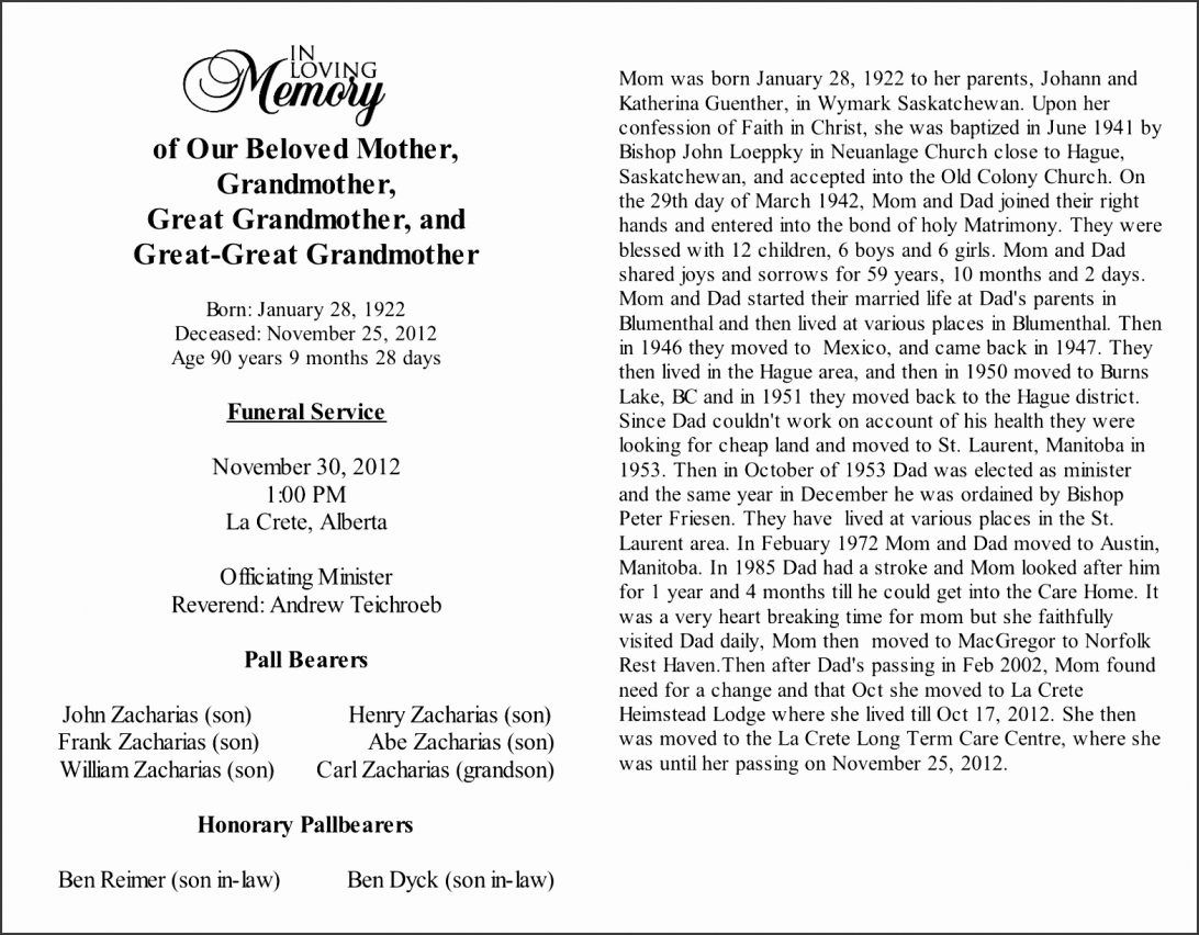 Free Obituary Template For Mother from i.pinimg.com