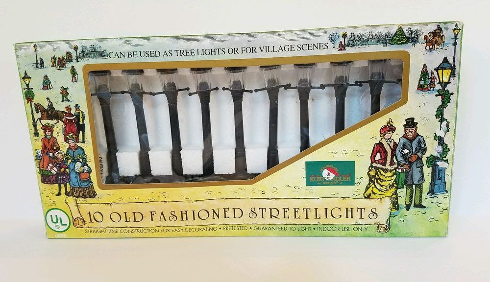 Kurt Adler Old Fashioned Street Lights
